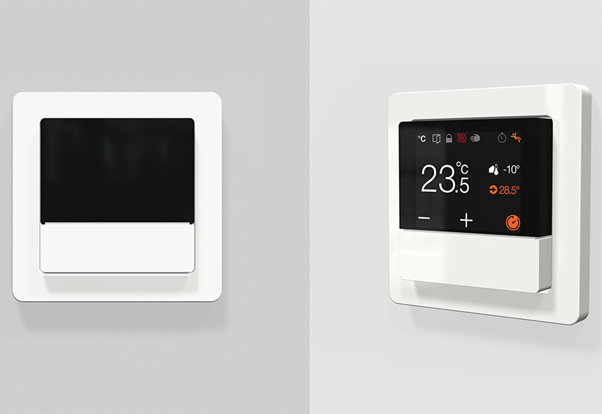 KNX rendszer termosztát
