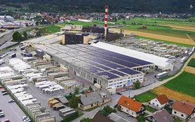 knauf gyártócsarnok Szlovénia