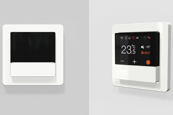 KNX rendszer Berker Q.1 termosztát